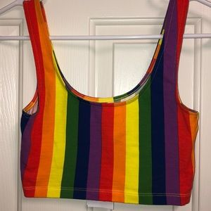 Rainbow 🌈 crop tank top